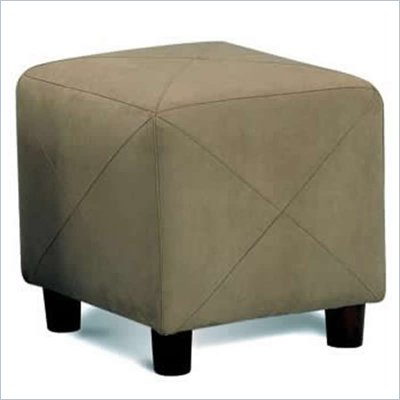 Coaster Contemporary Green Microfiber Cube Ottoman