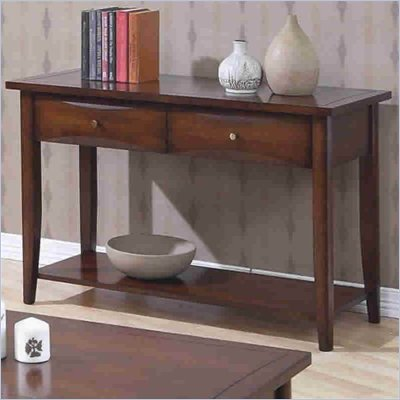Coaster Whitehall Sofa Table with Shelf &amp; Storage Drawers in Walnut