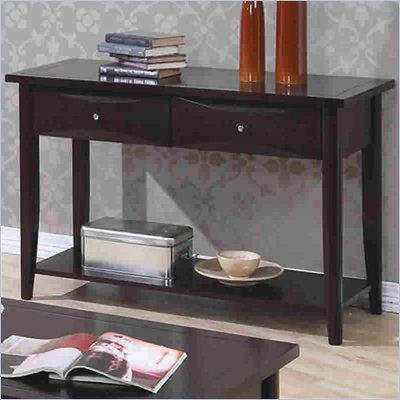 Coaster Whitehall Sofa Table with Shelf &amp; Storage Drawers