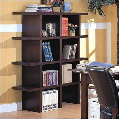 Coaster Stackable Bookcase in Espresso 