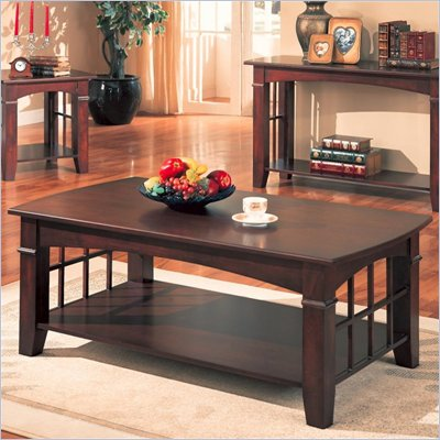 Coaster Abernathy Rectangular Coffee Table with Shelf