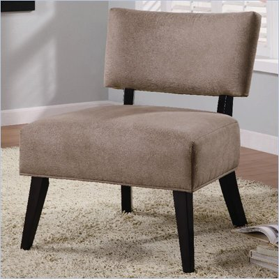 Coaster Accent Seating Upholstered Side Chair in Brown Microfiber