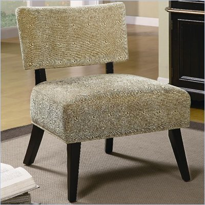 Coaster Accent Seating Upholstered Accent Side Chair in Brown Swirl