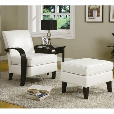 Coaster Accent Seating Bentwood Chair with Ottoman in Beige