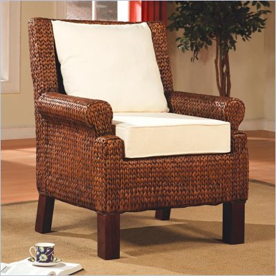 Coaster Accent Seating Dark and Light Banana Leaf Weaved Chair