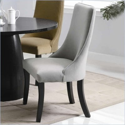 Coaster Amhurst Black Finished Dining Side Chair with Gray Upholstery