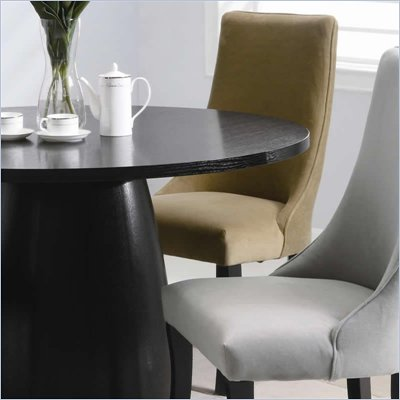 Coaster Amhurst Black Finished Dining Side Chair with Tan Upholstery
