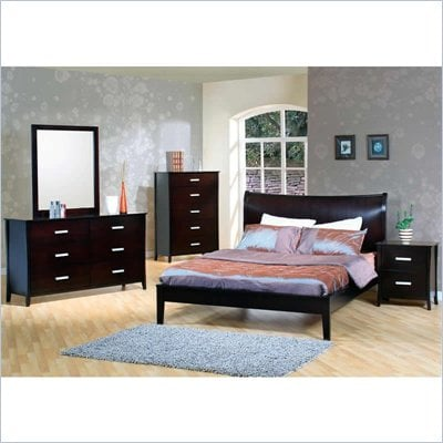 Coaster Auburn Queen Platform Bed 6 Piece Bedroom Set in Cappuccino