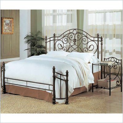 Coaster Beckley Queen Metal Headboard &amp; Footboard in Antique Green