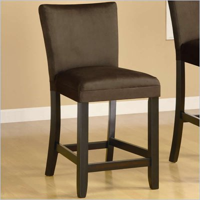 Coaster Bloomfield 24&quot; Microfiber Bar Stool in Chocolate