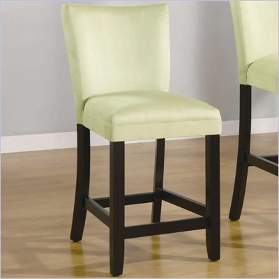 "Coaster Bloomfield 24"" Microfiber Bar Stool in Light Green"