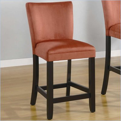 "Coaster Bloomfield 24"" Microfiber Bar Stool in Terracotta"
