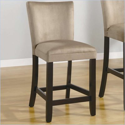 Coaster Bloomfield 24&quot; Microfiber Bar Stool in Taupe