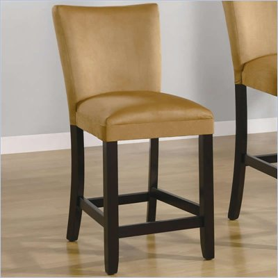 Coaster Bloomfield 24&quot; Microfiber Bar Stool in Gold Ochre