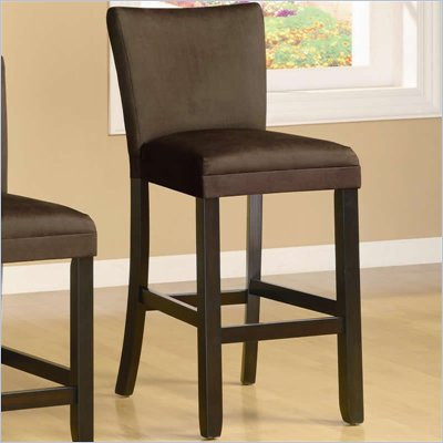 Coaster Bloomfield 29&quot; Microfiber Bar Stool in Chocolate