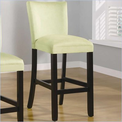 Coaster Bloomfield 29&quot; Microfiber Bar Stool in Light Green
