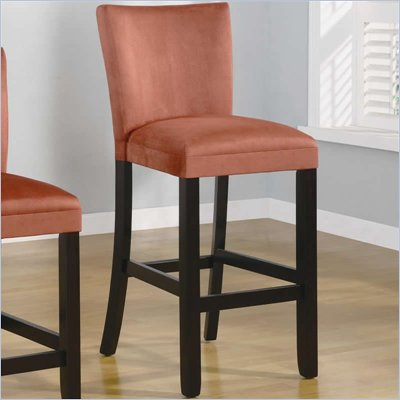 Coaster Bloomfield 29&quot; Microfiber Bar Stool in Terracotta