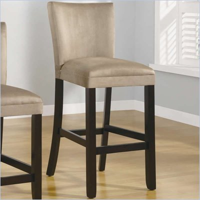"Coaster Bloomfield 29"" Microfiber Bar Stool in Taupe"