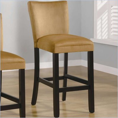 Coaster Bloomfield 29&quot; Microfiber Bar Stool in Gold Ochre