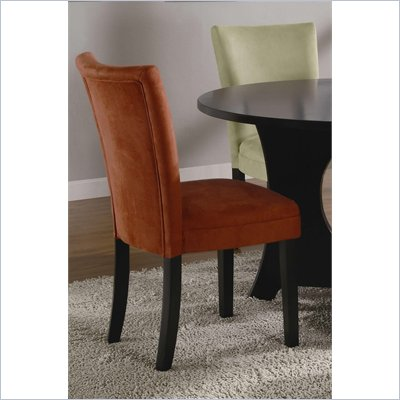 Coaster Bloomfield Microfiber Parsons Side Chair in Terracotta