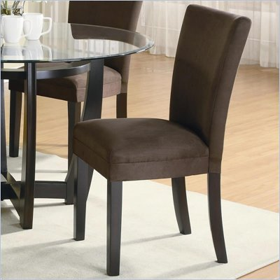 Coaster Bloomfield Parson Side Chair with Chocolate Fabric