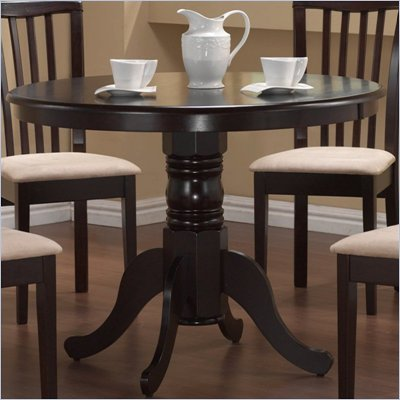 Coaster Brannan Round Single Pedestal Dining Table in Cappucino