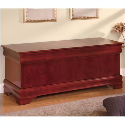 Coaster Louis Philippe Style Cedar Chest in Cherry Finish