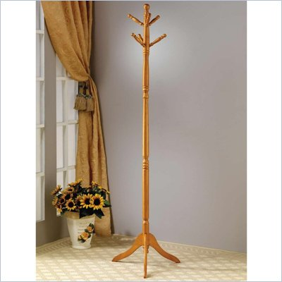 Coaster Coat Racks Classic in Golden Oak Finish