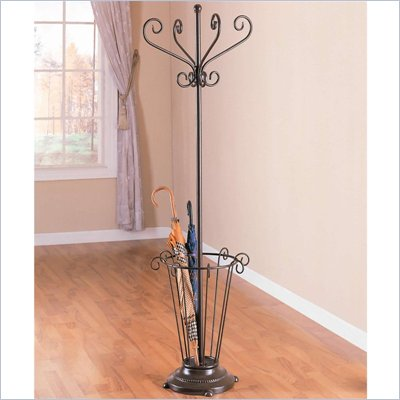 Coaster Metal Coat Rack with Umbrella Stand