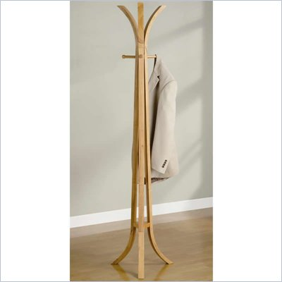 Coaster Contemporary Wood Coat Rack in Light Wood