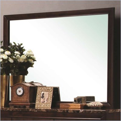 Coaster Conner Landscape Mirror in Dark Walnut