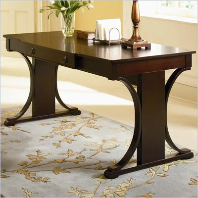 Coaster Crest Transitional Table Desk in Cherry