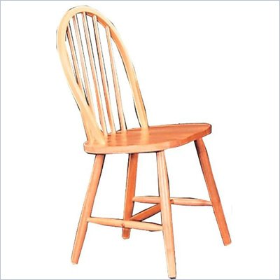 Coaster Damen Windsor Dining Side Chair in Warm Natural Wood Finish
