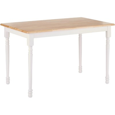 Coaster Damen Square Tile Top Dining Table in White and Natural