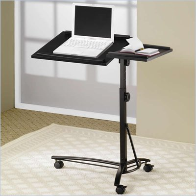 Coaster Desks Laptop Computer Stand w/ Adjustable Swivel Top &amp; Casters