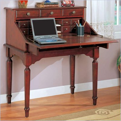 Coaster Desks Traditional Secretary Desk in Cherry