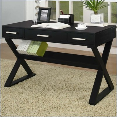 Coaster Desks Desk With Three Drawers in Black