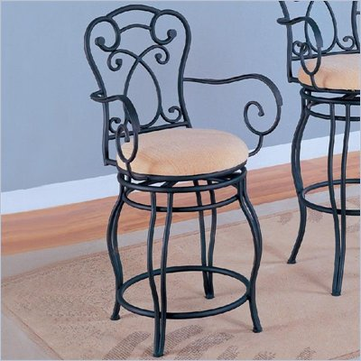 Coaster 24 Inch Metal Bar Stool in Black