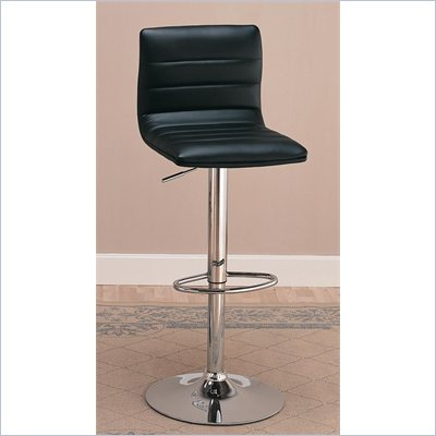 "Coaster 29"" Upholstered Adjustable Height Bar Chair in Black"