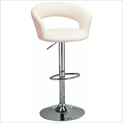 Coaster 29 Inch White Adjustable Bar Chair