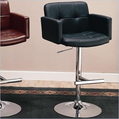 Coaster 29 Inch Black Adjustable Bar Chair