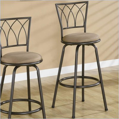 Coaster 29 Inch Metal Bar Stool in Blk/Brown