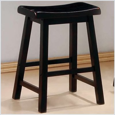 Coaster 24 Inch Wooden Bar Stool in Black