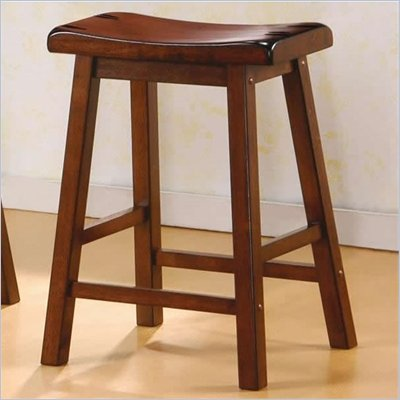 Coaster 24 Inch Wooden Bar Stool in Walnut