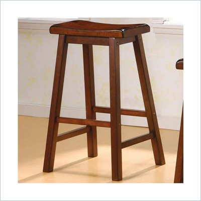 Coaster 29 Inch Wooden Bar Stool in Walnut