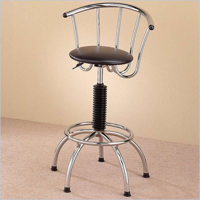 Coaster Adjustable Chrome Plated Bar Stool