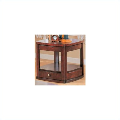Coaster Evans Contemporary End Table with Drawer and Shelf