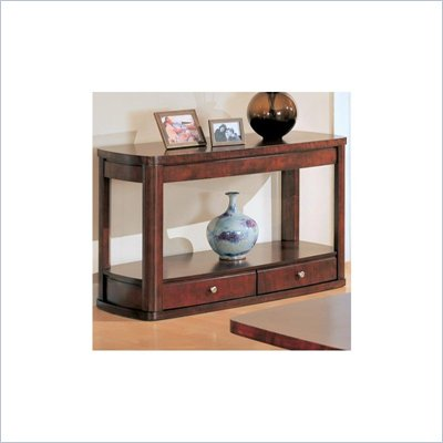 Coaster Evans Contemporary Sofa Table with Storage in Cherry