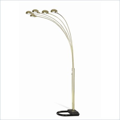 Coaster Chrome Overhead Sofa Floor Lamp