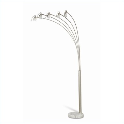 Coaster Five Head Arch Floor Lamp in Chrome
